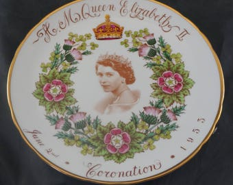 Tuscan Plate For 1953 Coronation of QUEEN ELIZABETH II