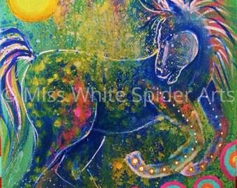 Wild One, original acrylic painting, digital painting, digital artwork, print