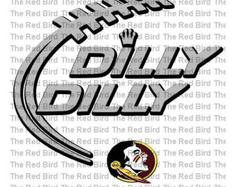 Dilly Dilly Florida State Football funny printable Digital download cut file  SVG, DXF, PNG, EpS, PdF