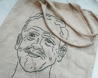 Jeremy Corbyn bag, labour canvas bag, jezza tote, jc4pm, socialist, corbynista, recycled christmas present, eco-friendly, politics, ooak