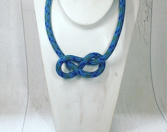 Figure of Eight climbing rope necklace