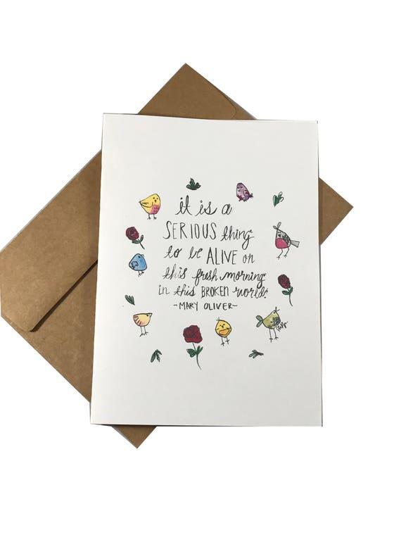 Serious Thing Greeting Card