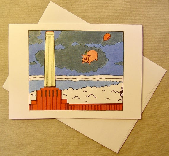Pink floyd birthday card animals regular size card and like this item bookmarktalkfo Image collections