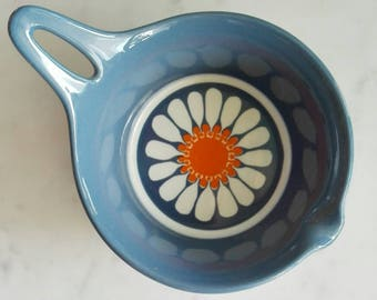 "Vintage Saucer Cup Figgjo Flint Norway. Designed by Turi Gramstad Oliver. ""Daisy"" Pattern"
