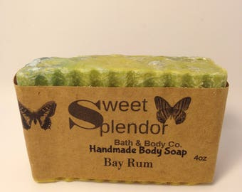 Handmade Bay Rum Soap-Bay Rum-Face and Body Soap