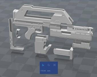 M41A Pulse Rifle, Replica, STL File for 3D Printing