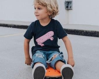 Skateboard - Navy - Kids T-shirt - Skater