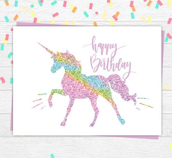 Unicorn birthday card unicorn card glitter unicorn card unicorn birthday card unicorn card glitter unicorn card printable unicorn card magical m4hsunfo