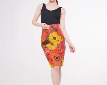 Elisa African Print Skirt