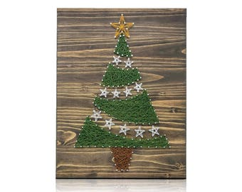 Fun and beautiful diy string art kits by stringoftheart on for Christmas arts and crafts for adults