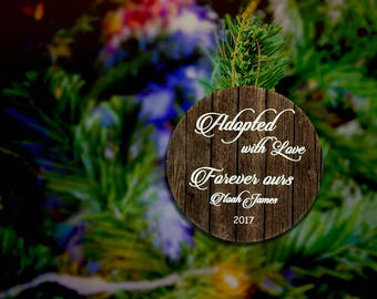 Adoption Ornament, Forever Family Ornament, First Christmas Adopted , Im Adopted Ornament, Make it Official, Custom Adopted Ornament