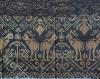 "Handmade misris Indonesia ""animal pattern"" ethnic handmade ikat fabric"