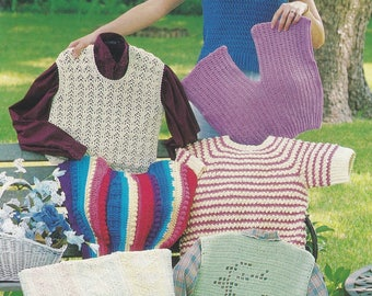 Cotton Sweaters, Annie's Attic Crochet Pattern Booklet 87W40 Six Designs for Lady's!