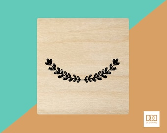 Rustic Wreath Round - 6cm Rubber Stamp (DODRS0005)
