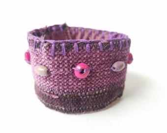 Boho Cuff Bracelet, Cuff Bracelets, Beaded Cuff Bracelet, Pink Bracelet Cuff, Boho Bracelets, Bohemian Bracelets, Bohemian Beaded Bracelets