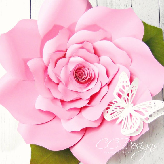 Diy large paper flowers paper roses backdrop paper flowers large il570xn mightylinksfo