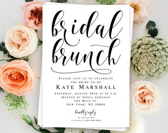 Bridal brunch invitation template download Editable invitation Boho bridal brunch shower invitation Modern invitation Boho invitation DIY
