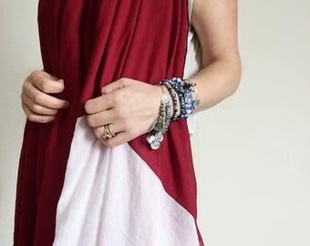 Indian Linen Scarf Shawl - dupatta scarf, linen scarf, linen shawl, bohemian scarf, boho scarf, long scarf, hippie gypsy shawl, Xmas gift