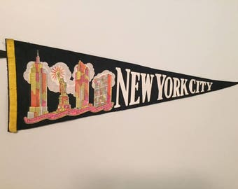 Vintage New York City Pennant