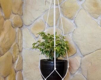 Plant hanger, macrame hanging planter, modern macrame hanger, flower hanger, modern macrame wall art, hygge boho decor, rope plant hanger