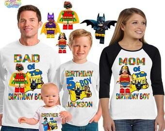 15% Off Batman birthday shirt /robin birthday shirt /family matching shirts/wonder woman birthday party shirt / superman shirt/ family shirt