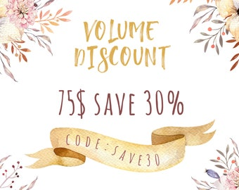 Volume Discount 30% off. Do not buy this listing!!!