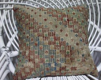 40 x 40 cm 16x16 bolster pillow cover kilim pillow embroidered pillow cover turkish pillow bohemian throw  pillows 3809