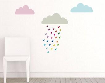 Colorful rain stickers