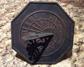 Vintage TempusFugit Scorpion Sundial cast Iron 1960s
