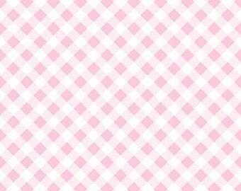 Sew Cherry 2 - Per Yd - Riley Blake - by Lori Holt - Pink Gingham on white