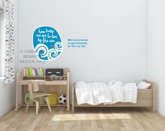 By The Sea - wall decal (small)