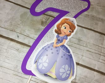 Sofia the First  Birthday Party Cake Topper/Party Decor