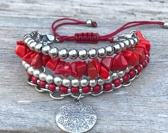 Stacker Bracelet, Boho Bracelet, Bracelet Set, Layering Bracelet, Mix and Match Bracelet, Stocking Filler, Gift for Her, Beaded Bracelet