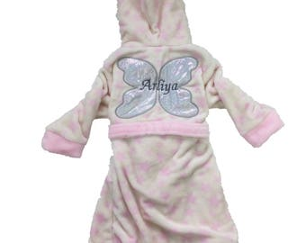 Personalsied Fairy Princess Dressing Gown Robe Age 2-3 years