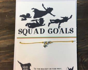 Peter Pan squad goals wish bracelet.Peter pan wish bracelet.Star wish bracelet.Star charm bracelet.Peter pan jewelry.Peter Pan gift.