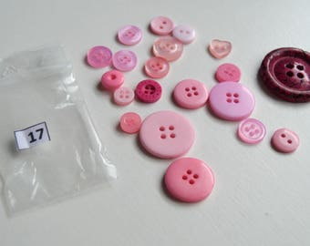 Set of 20 buttons of various sizes and colors set 17