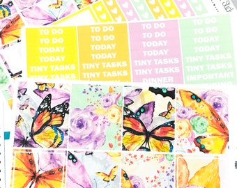 Butterfly kisses Weekly Kit | Planner Stickers, Weekly Kit, butterfly weekly kit, Vertical Planner Kit, butterflie weekly kit