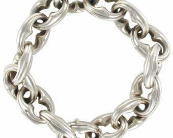 Bracelet antique silver curb chain