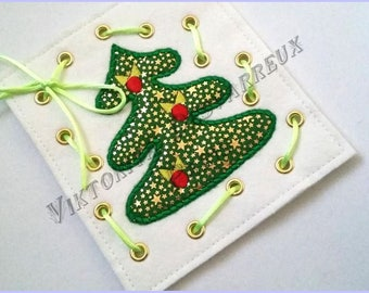 Lacing toy card  toy Learning toy Kids Christmas gift