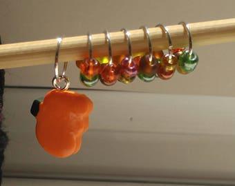 Harvest Pumpkin Stitch Markers (Set of 7)
