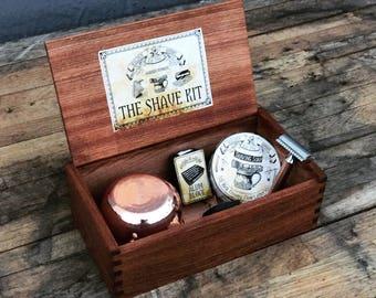 Wood Shaving Box - Grooming kit
