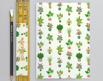 Tropical Plants Notebook Green