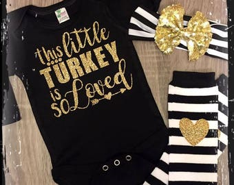 Adorable turkey outfit
