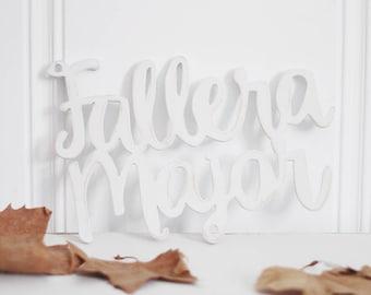Wooden Signboard Model Fallera Major