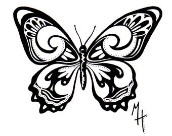 Ink Butterfly 1 Illustration