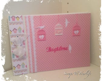 """""""Girly"""" pastel baptism guestbook"""