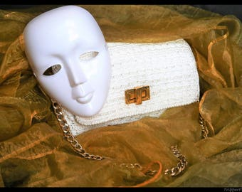 White bag-crochet-high quality materials processing