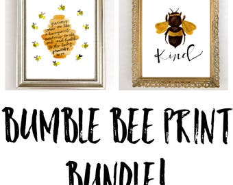 Bible Verse Wall Art Print Bee Nursery Decor Set Of 2