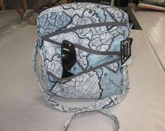 Handbag, shoulder bag, adjustable strap, fabric bag everyone designed polyester with deep pocket on the outside, lined
