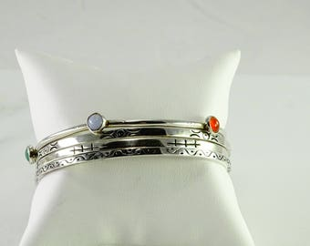 Four Bangle Collection All Sterling